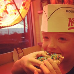 Photo taken at Krispy Kreme Doughnuts by Tad B. on 3/24/2012