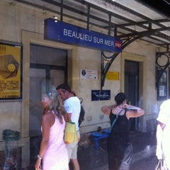 Photo taken at Gare SNCF de Beaulieu-sur-Mer by Pedro G. on 8/7/2012