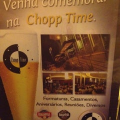 Photo taken at Chopp Time by Ana Cristina Z. on 5/12/2012
