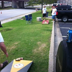 Photo taken at Turner Field - Blue Lot by Michael P. on 8/4/2012