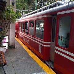 Photo taken at Trem do Corcovado by Thiago Q. on 8/28/2012