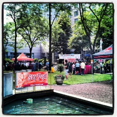 Photo taken at With Love Beer Garden at the Four Seasons Hotel Philadelphia by winston y. on 6/13/2012