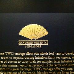 Photo taken at Mandarin Oriental, Singapore by Vic T. on 9/3/2012