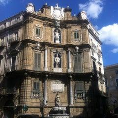 Photo taken at Quattro Canti by Simone S. on 5/14/2012