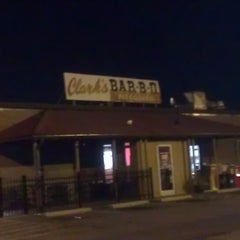 Photo taken at Clark's BBQ by dan b. on 8/21/2012