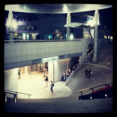 Photo taken at 用賀駅 (Yoga Sta.) by lefty_ m. on 6/2/2012