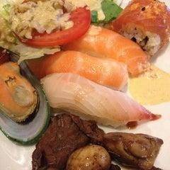 Photo taken at Kiku Japanese Steak & Sushi by Jade K. on 8/5/2012