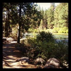 Photo taken at Deschutes River Trail Footbridge by Dawn on 9/1/2012