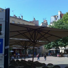 Photo taken at Place Saint-Pierre by Florent F. on 6/17/2012