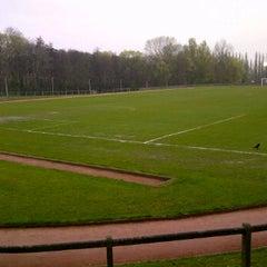 Photo taken at Football Field by Kallissa T. on 4/5/2012