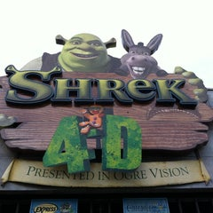 Photo taken at Shrek 4-D by Shay T. on 4/14/2012