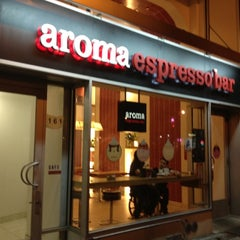 Photo taken at Aroma Espresso Bar by David O. on 5/29/2012