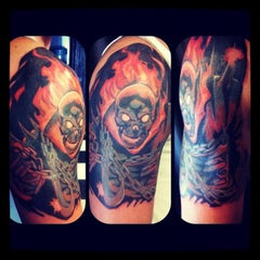 Photo taken at Chop Shop Tattoos by Theo B. on 4/11/2012