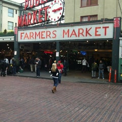 Photo taken at Pike Place Fish Market by Michael R. on 3/4/2012