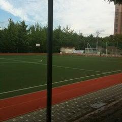 Photo taken at 청담중학교 by Austin G. on 8/13/2012