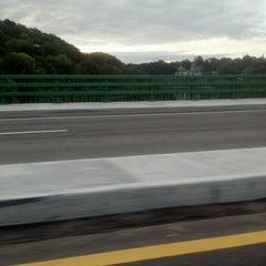 Photo taken at Hunts Falls Bridge by Josh H. on 9/6/2012