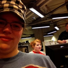 Photo taken at Brookens Library at the University of Illinois Springfield by Jessica F. on 3/8/2012