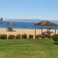 Photo taken at South Beach - Aqaba by Patrícia O. on 7/3/2012