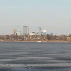 Photo taken at Lake Calhoun by Lori S. on 3/14/2012