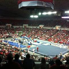 Photo taken at Stegeman Coliseum by Laura B. on 3/3/2012