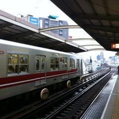 Photo taken at 西中島南方駅 (Nishinakajima-Minamigata Sta.) (M14) by T on 6/19/2012