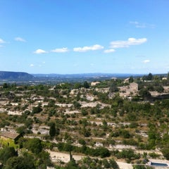 Photo taken at Cercle Républicain de Gordes by Lionel on 7/15/2012