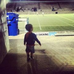 Photo taken at Lamport Stadium by Mario G. on 8/29/2012