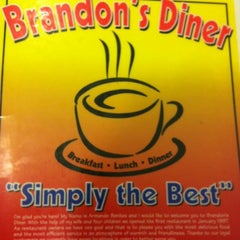 Photo taken at Brandon's Diner by Abraham G. on 3/24/2012