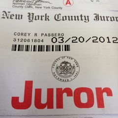 Photo taken at New York City Criminal Court by Corey P. on 3/20/2012