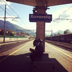 Photo taken at Stazione di Rovereto by Francesca F. on 4/17/2012
