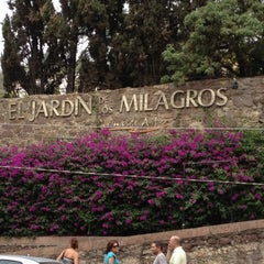 Photo taken at El Jardín de los Milagros by José L. on 5/5/2012