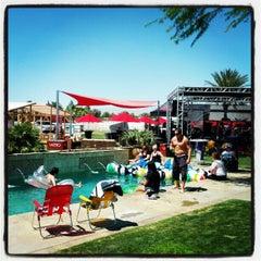 Photo taken at KROQ Coachella House 2012 by Matthew W. on 4/20/2012