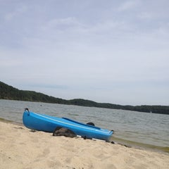 Photo taken at Cliff Pond by Casey G. on 8/8/2012