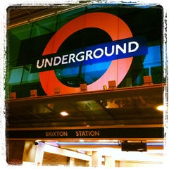 Photo taken at Brixton London Underground Station by George P. on 2/12/2012