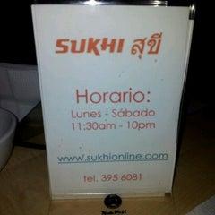 Photo taken at Sukhi by Kito H. on 3/1/2012