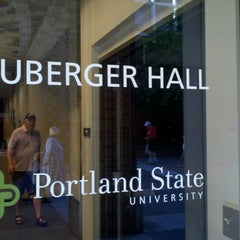 Photo taken at Neuberger Hall (PSU) by Harry C. on 9/8/2012