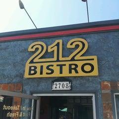 Photo taken at 212 Bistro by Derek R. on 7/8/2012