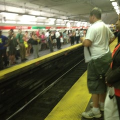Photo taken at MBTA Park Street Station by Bethany B. on 8/15/2012