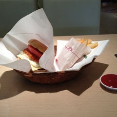 Photo taken at MOS Burger by Charintorn R. on 7/1/2012