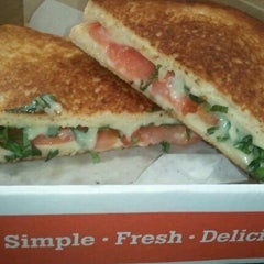 Photo taken at Cheeseboy: Grilled Cheese To Go by Jennifer R. on 5/25/2012
