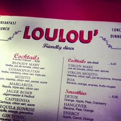 Photo taken at Loulou' Friendly Diner by Tiziano T. on 9/1/2012