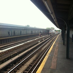 Photo taken at MTA Subway - Rockaway Blvd (A) by Scott B. on 6/19/2012