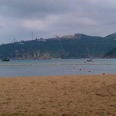 Photo taken at South Bay Beach 南灣泳灘 by Adelfa B. on 5/27/2012