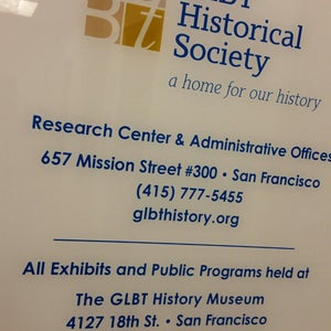 The GLBT Historical Society