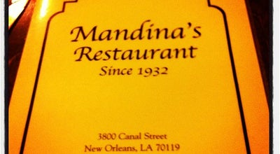 Photo of Cajun / Creole Restaurant Mandina's Restaurant at 3800 Canal St, New Orleans, LA 70119, United States