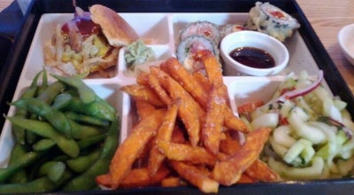 Photo of Sushi Restaurant The Cowfish Sushi Burger Bar at 4310 Sharon Rd, Charlotte, NC 28211, United States