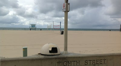 Photo of Beach 8th St Lifeguard Tower in Hermosa Beach at Hermosa Beach, CA, United States