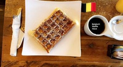 Photo of Cafe Belgium Waffle Haus at 18100 Chatsworth St., Granada Hills, Ca 91344, United States
