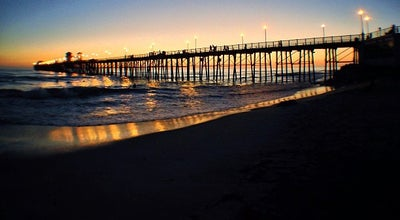 Photo of Beach Oceanside Municipal Fishing Pier at Oceanside, CA 92054, United States