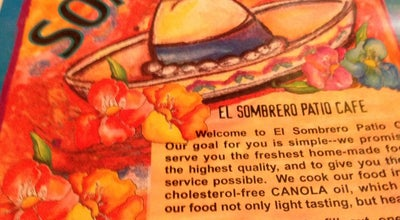 Photo of Mexican Restaurant El Sombrero Patio Cafe at 363 S Espina St, Las Cruces, NM 88001, United States